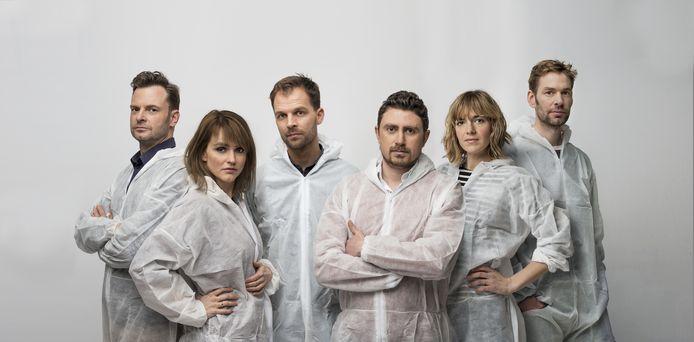 Keuringsdienst van Waarde met Teun van de Keuken, Marijn Frank, Daan Nieber, Ersin Kiris, Sofie van den Enk en Maarten Remmers.