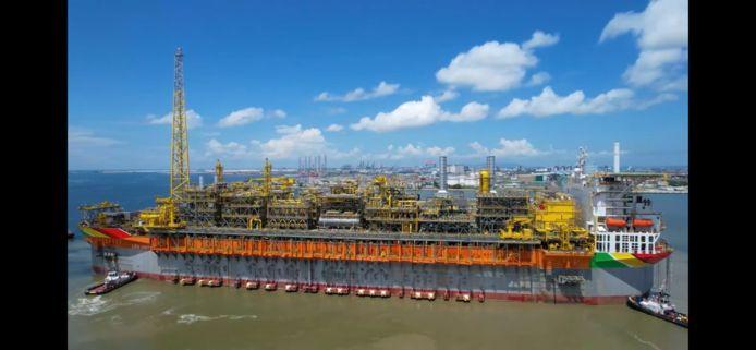 Productieplatform voor olie waarvoor Wilderink Lastechniek eerder de opbouw leverde.