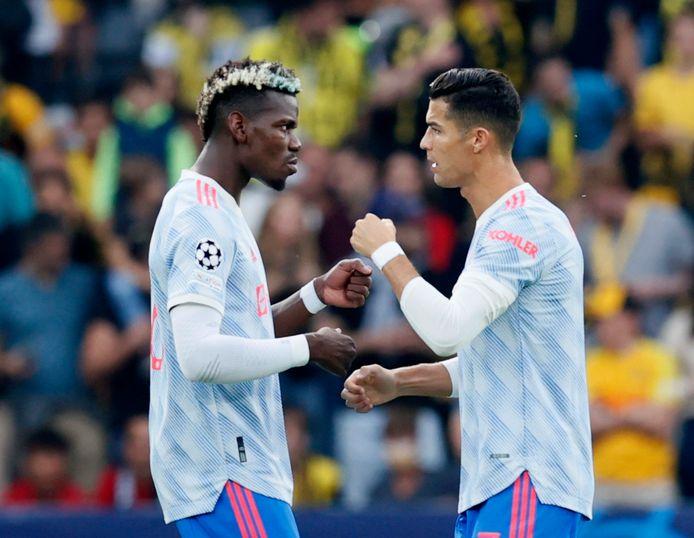 Cristiano Ronaldo en Paul Pogba.