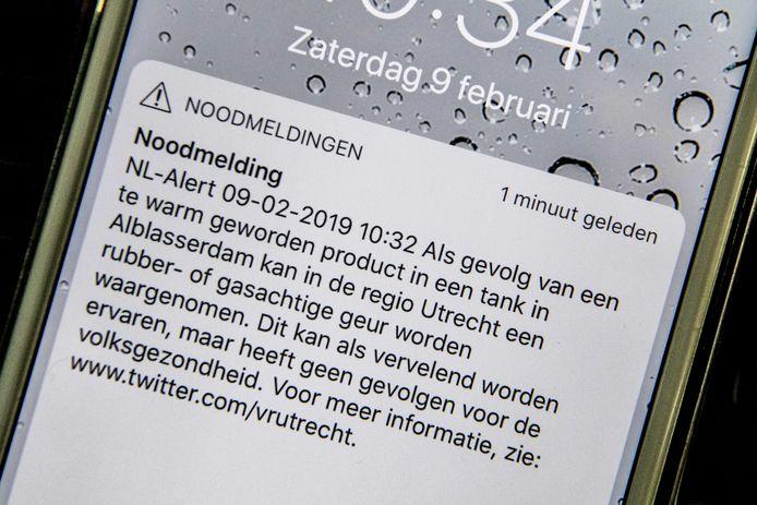 In het tweede NL Alert stond dat het gevaar voor de gezondheid 'nihil' was.