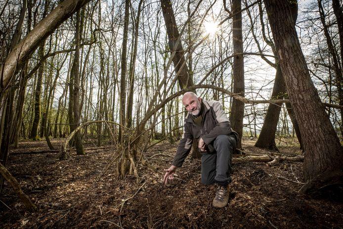"""René Kempers van de wildbeheereenheid: """"In het gebied tussen Ootmarsum, Rossum en Denekamp zijn meer hazen geteld dan in voorgaande jaren."""""""