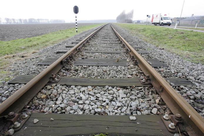 De spoorlijn op de Axelse vlakte richting staalverwerker Outukumpu
