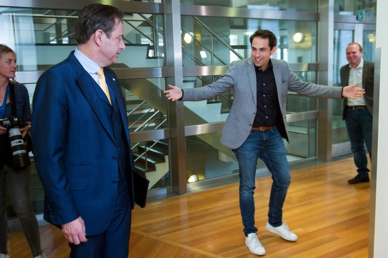 Bart De Wever en Tom Van Grieken. Beeld Photo News