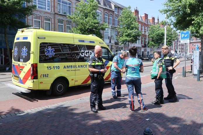 Er is een kindje uit raam gevallen op de Joubertstraat in Den Haag.