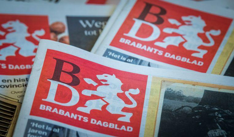 Voorpagina van het Brabants Dagblad  Beeld ANP