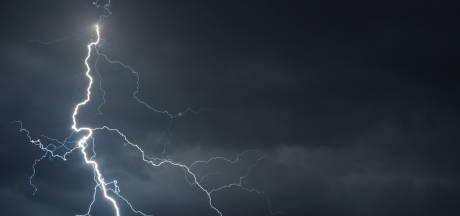 Zondagavond code geel vanwege hagel en zware windstoten