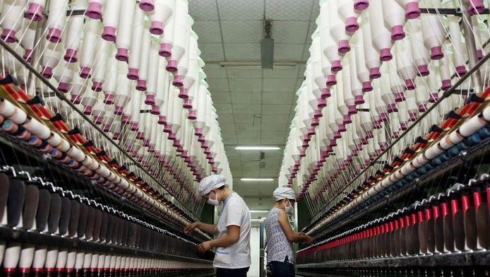 Une usine de textile à Jiujiang, dans la province de Jiangxi.