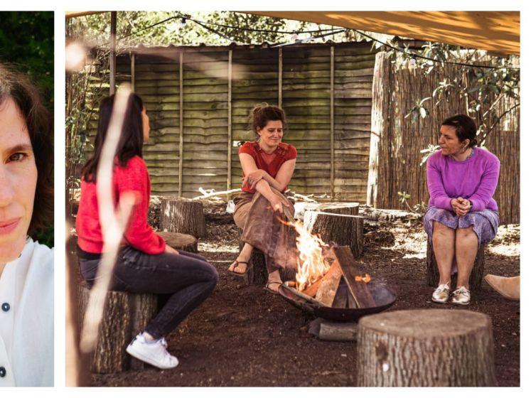 """UITGETEST. Eindredacteur Geertrui neemt deel aan 3 initiatieven die vrouwen samenbrengen: """"Rond het kampvuur voelen we een innige verbondenheid"""""""