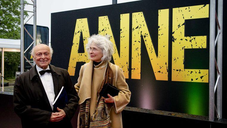 Buddy Elias, neef en laatste directe familielid van Anne Frank, is overleden. Beeld ANP