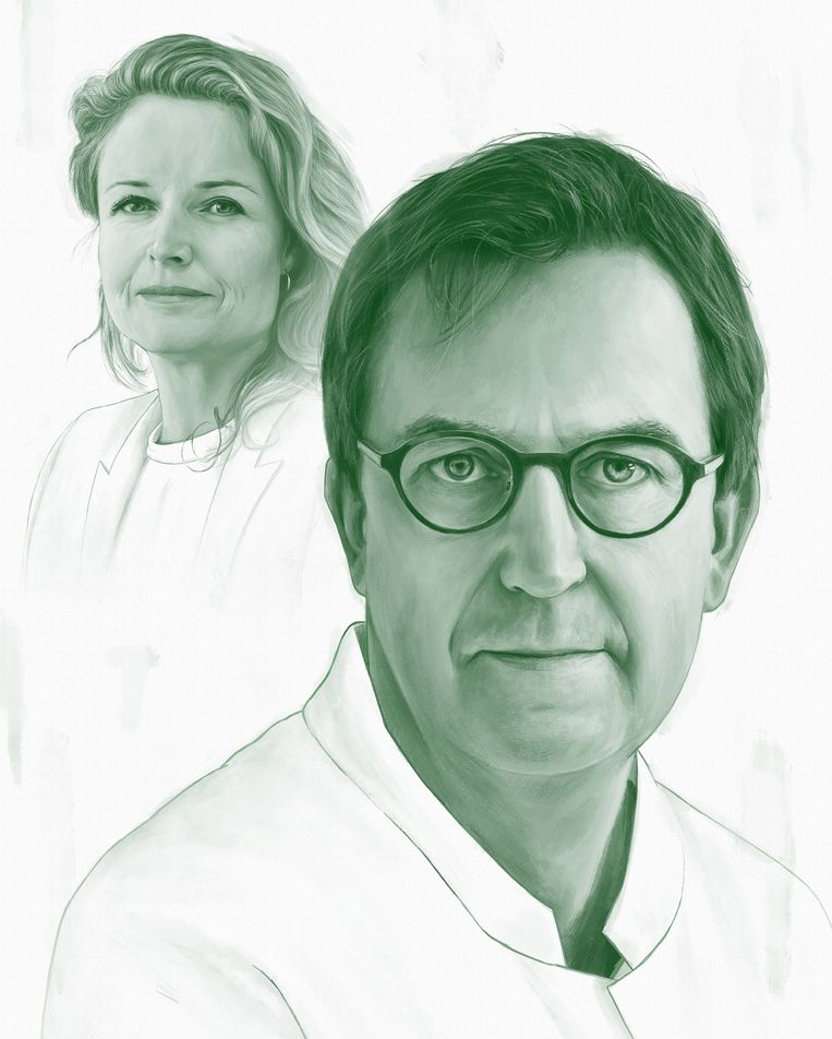 Diederik Gommers en Anja Schreijer. Beeld Kevin McGivern