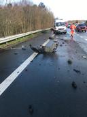 3 personenwagens waren betrokken bij het ongeval. Het bleef gelukkig bij stoffelijke schade.