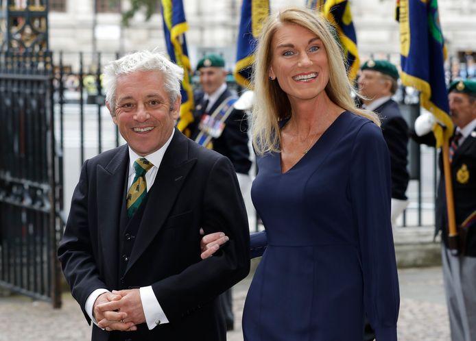 John Bercow en echtgenote Sally. Zij is al langer lid van Labour.