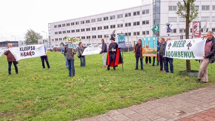 Protestactie bij Arnhem tegen de biomassacentrale daar