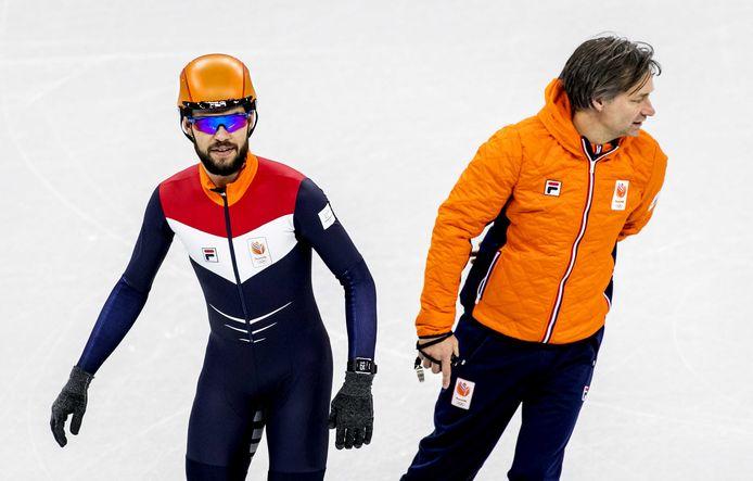 Sjinkie Knegt en bondscoach Jeroen Otter, de echtgenoot van Elien Rienstra.