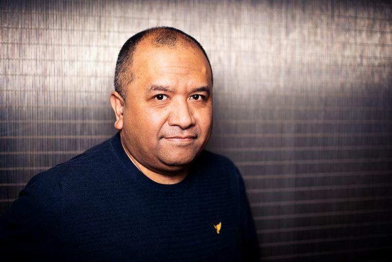 Ichtus Rahanra: 'Ik veroordeel onze vaders niet, ik weet niet wat ik zelf zou doen in zo'n oorlogssituatie'. Beeld Martijn Gijsbertsen