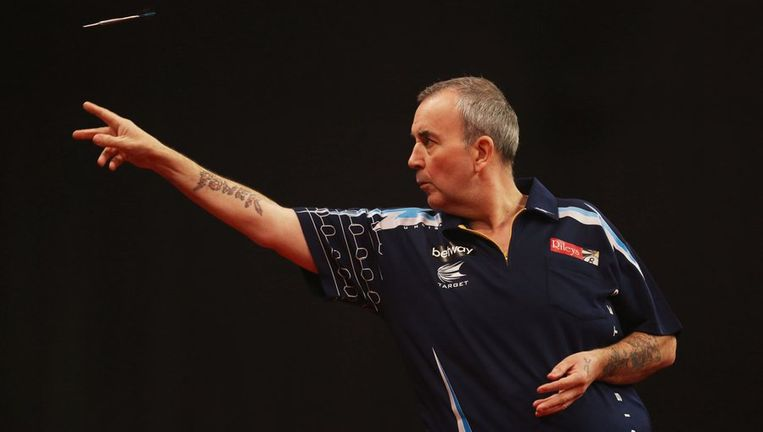 Phil Taylor won vijf van de elf voorgaande edities. Beeld PHOTO_NEWS