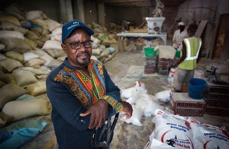 Abednico Bhebhe, mede-eigenaar van Lite Price Foods. Beeld Bram Lammers