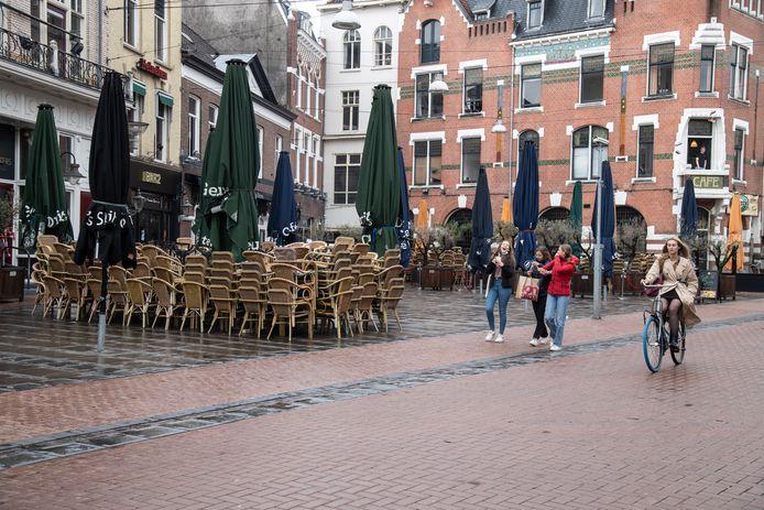 Lege terrassen in Nijmegen, hoe lang nog?