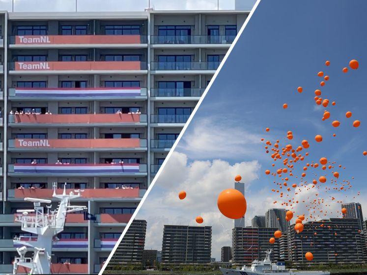 Ambassade Nederland steunt olympische sporters met ballonnen