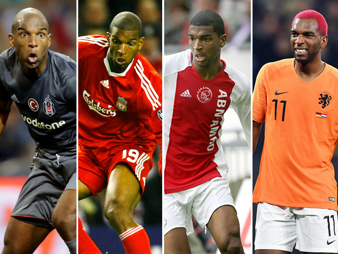 Ryan Babel. Vlnr als speler van Besiktas, Liverpool, Ajax en Oranje.
