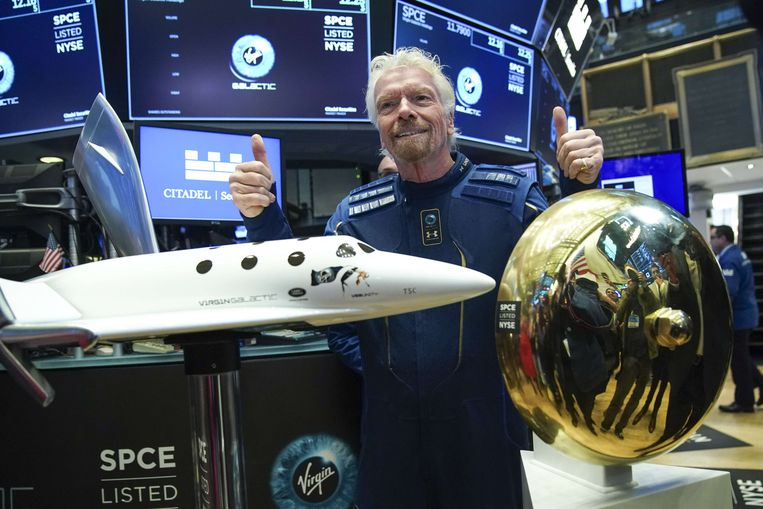 Sir Richard Branson, oprichter van Virgin Galactic. Beeld AFP