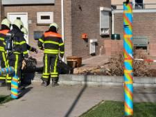 Brandweer rukt uit voor gaslek aan de Parallelweg in Giessen