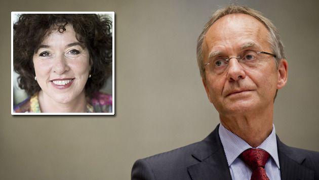 Hoogleraar Roos Vonk (kader) wilde minister Henk Kamp 'voor zijn bek slaan'.