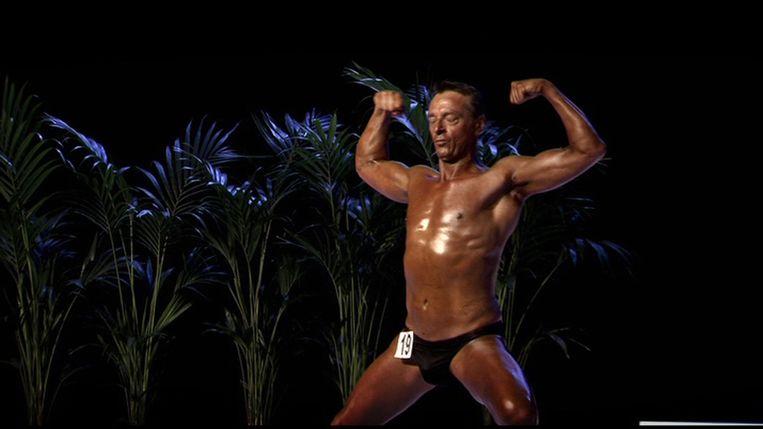 Tom Waes als bodybuilder. Beeld VRT