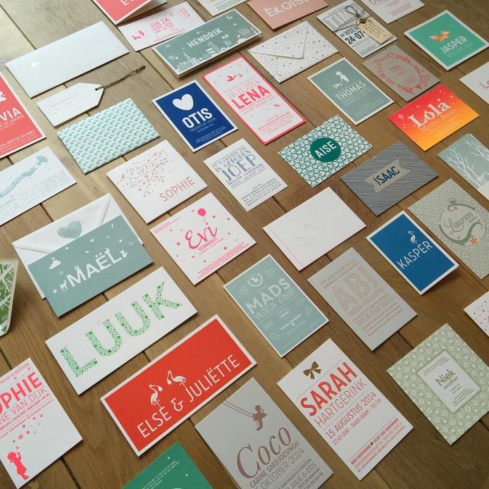Geboorte kaartjes Letters naar Museum voor Communicatie in Den Haag. Ter illustratie.