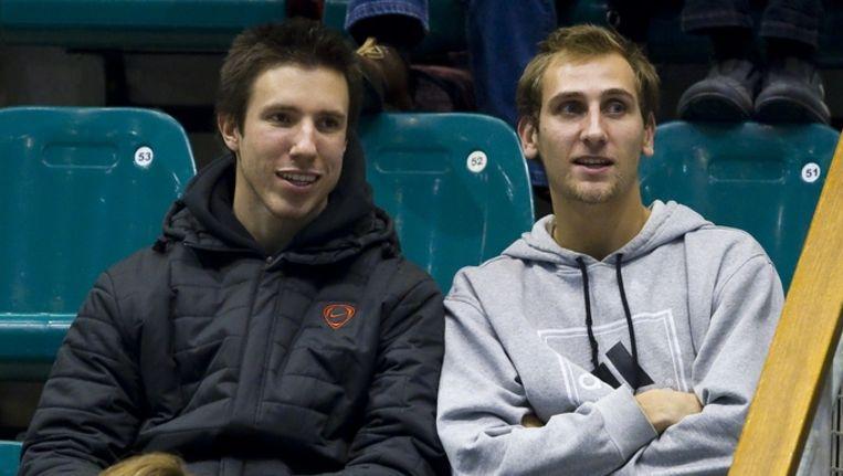 Thiemo de Bakker en Igor Sijsling (links) - op de foto toeschouwer bij het NK tennis in Rotterdam, vorige maand - doen het in Melbourne aardig. Beeld anp