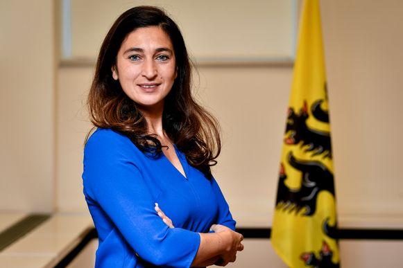 Vlaams minister van Omgeving, Justitie, Toerisme en Energie Zuhal Demir.