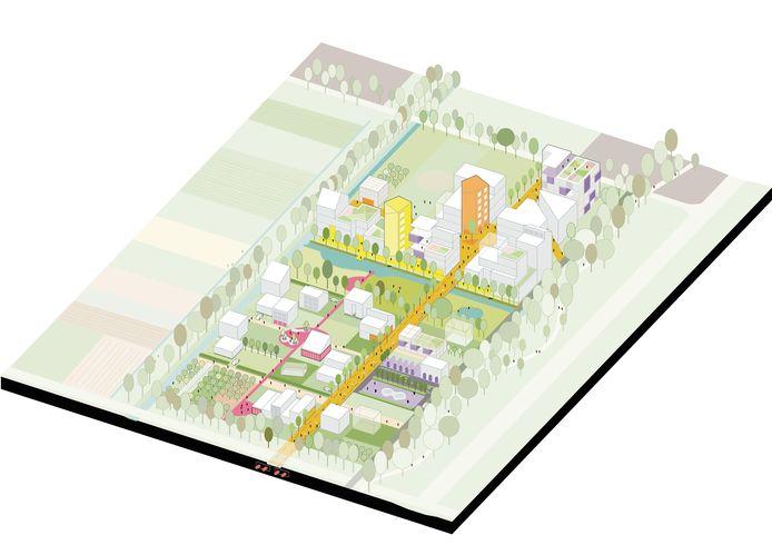 Proeftuin Living Lab 040 aan de Castiliëlaan in Eindhoven biedt uiteindelijk plaats voor 100-120 experimentele woningen. Het is verdeeld in de stadskamer (boven) en buurtkamer (beneden).