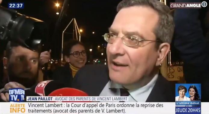 Me Jean Paillot, avocat des parents de Vincent Lambert.