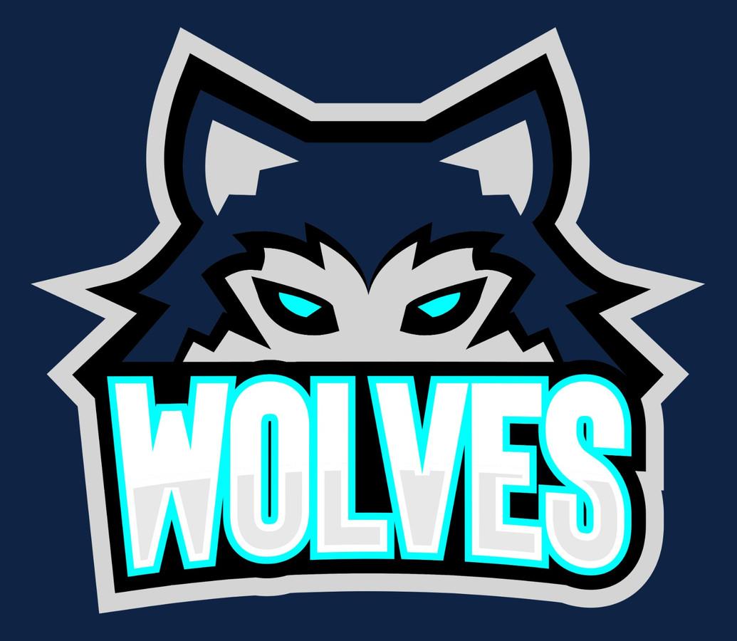 Het logo van de nieuwe Nijmeegse ijshockeyploeg in oprichting Wolves.