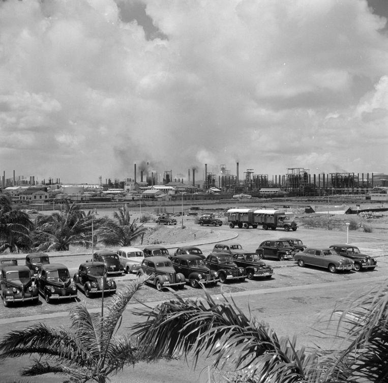 Kamp Suffisant was op het terrein van de Curaçaosche Petroleum Industrie Maatschappij gevestigd. Beeld Fotocollectie Van de Poll