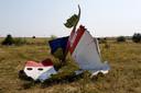 Resten van rampvlucht MH17.