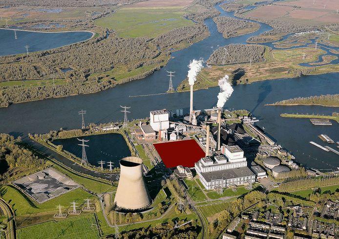 De Amercentrale in De Biesbosch, een bedrijf dat veel overtollige stikstofruimte heeft.