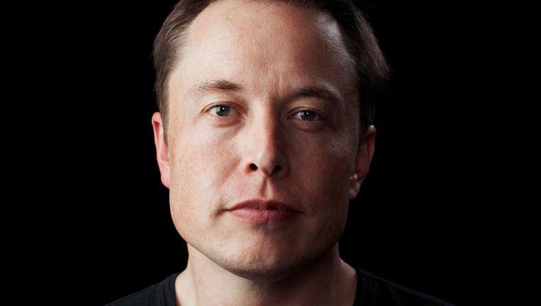 Elon Musk, die de toekomst waarneemt alsof die al werkelijkheid is, in 2012. Beeld Bryce Duffy
