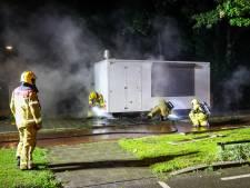Forse schade aan Apeldoornse viskraam door brand