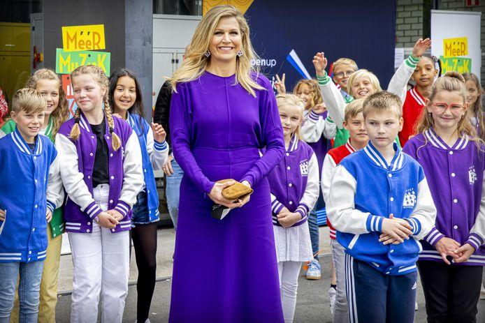ROTTERDAM - Koningin Máxima tijdens een bezoek aan het Eurovisie Songfestival in Rotterdam Ahoy.