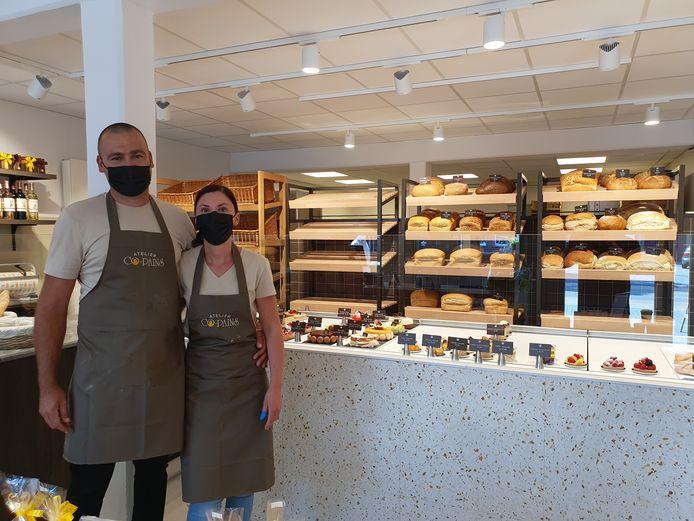 Atelier Co-Pains in Rijkevorsel. Julie en Steve baten de zaak als franchisenemers uit.