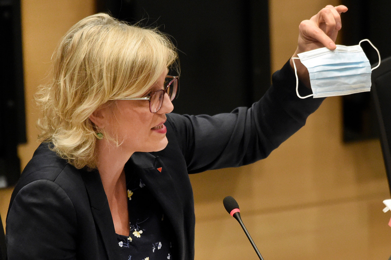Kamerlid voor PVDA Sofie Merckx. Beeld BELGA