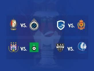 Club Brugge treft Standard in kwartfinale Croky Cup, Anderlecht ontvangt Cercle