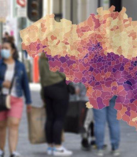 Carte et courbes criants de vérité: situation de plus en plus critique à Liège