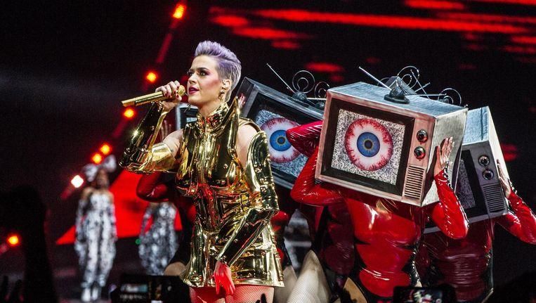 De Amerikaanse zangeres Katy Perry verzorgt een optreden in de Ziggo Dome als onderdeel van haar