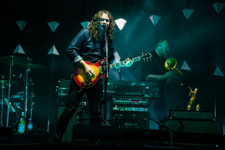 Adam Granduciel van The War On Drugs, Pukkelpop 2018. Beeld Damon De Backer