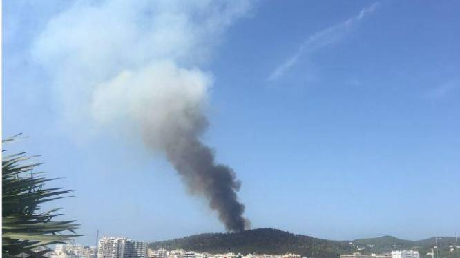 Bosbrand op Ibiza: 8 hectare bos in as
