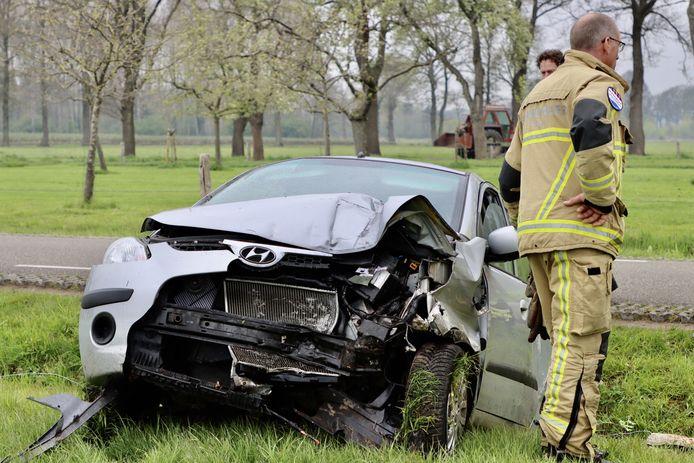 Veel schade na het ongeluk in Deurningen