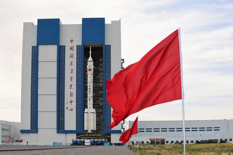 Het ruimteschip Shenzhou 12. Beeld AP
