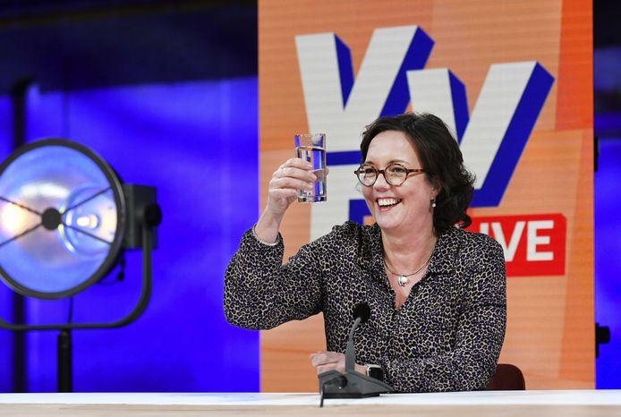 Minister Tamara van Ark (Medische Zorg en Sport) staat achter premier Rutte op 2 van de VVD-kandidatenlijst.